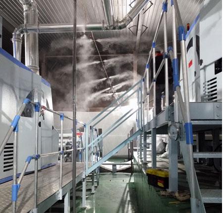 无纺布车间喷雾加湿案例