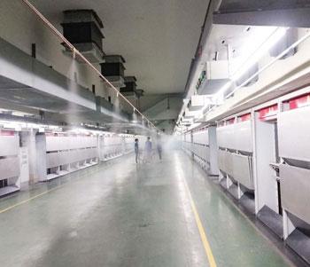 福建锦兴集团纺丝车间工业加湿系统顺利完工