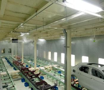 广汽新能源汽车公司干雾加湿器加湿除尘案例