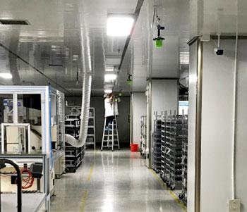 汽车比亚迪公司天线装配生产车间干雾加湿案例