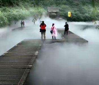 公园喷雾造景案例